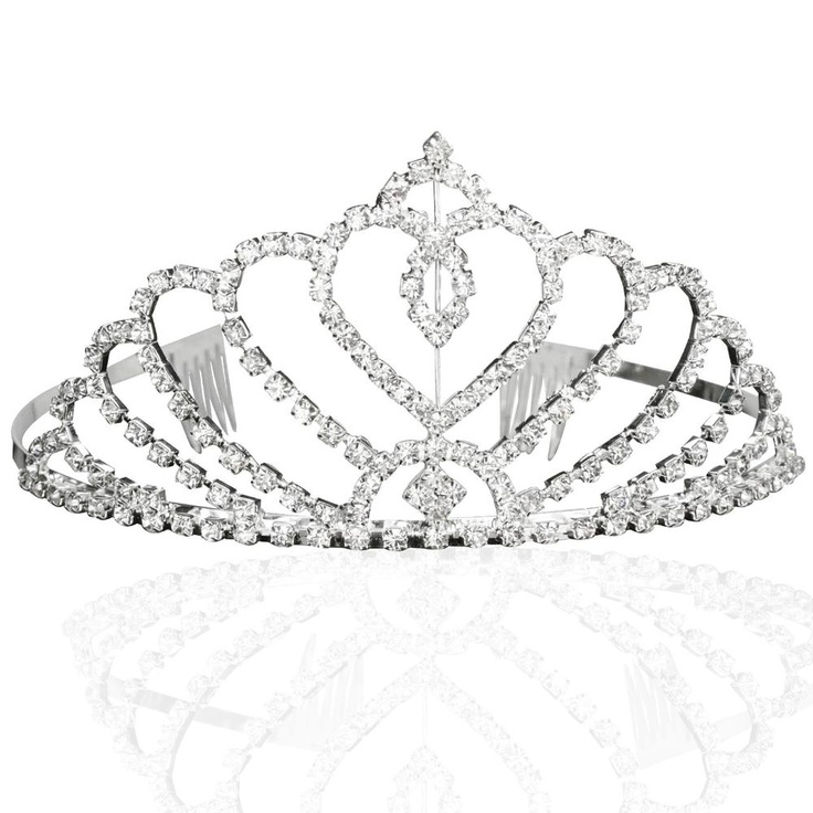 Bridal Wedding Princess Tiara Crown With Blooming Crystal Rhinestone Hearts You Can Get Additional Details At The Image Link