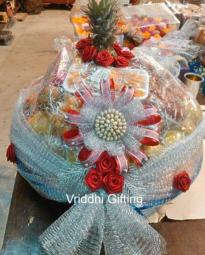 Wedding Gift Packing Ideas For Bride : Indian Wedding Trousseau Gift Packing.