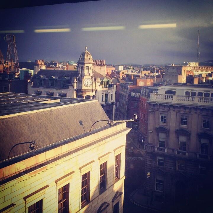 Evening sunshine, Dame Street Dublin