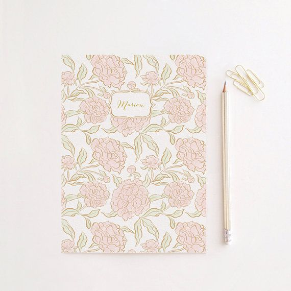 Peony Personalized Notebook Cahier Journal