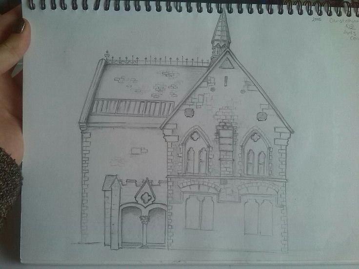 Christchurch Arts Center | Pencil Sketch by Kate Winsley