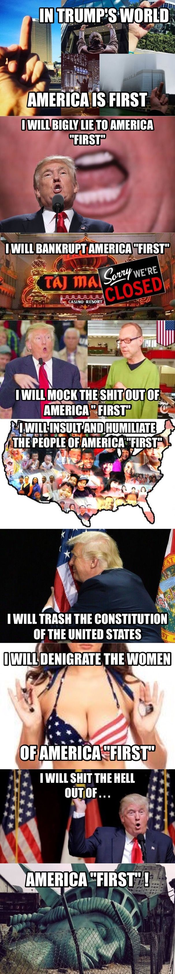 So Sickening!  #TrumpStoleit HE IS A ILLEGITIMATE PERSON AND A ILLEGITIMATE PRESIDENT!!! Pass it on!