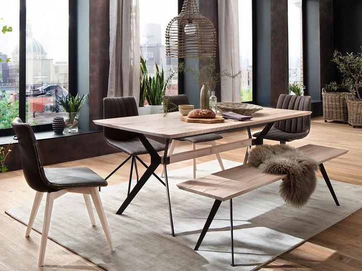Die besten 25+ Holztisch eiche massiv Ideen auf Pinterest Tisch - esszimmer eiche massiv