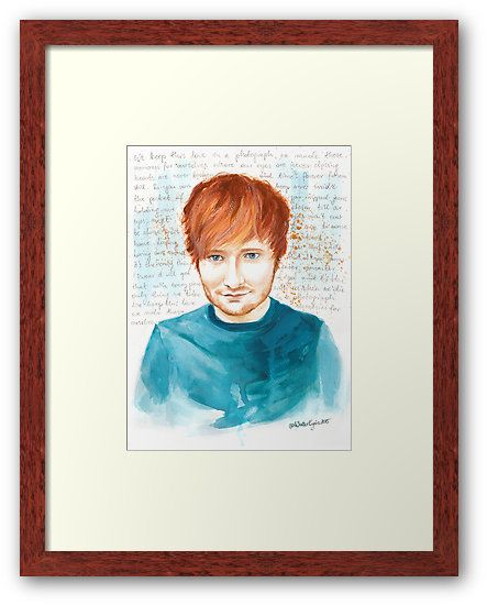 Framed Ed Watercolor Portrait by WaterLyrics on REDBUBBLE