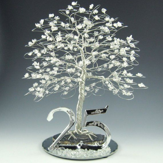 25th Wedding Anniversary Decoration Ideas: 25th Anniversary Tree Cake Topper Or Centerpiece By