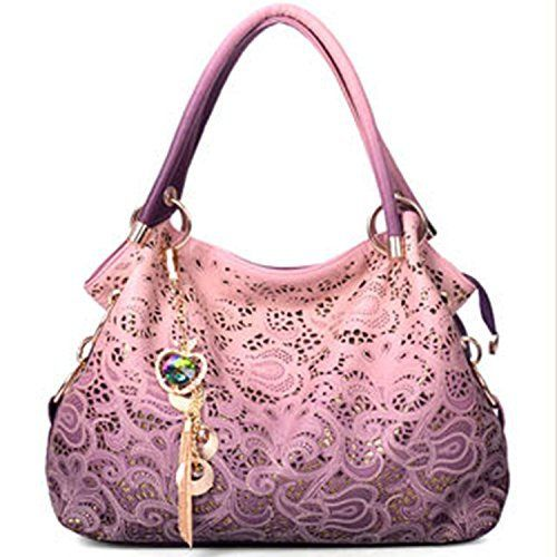 New Trending Shoulder Bags: ORICSSON Fashion Women Top-handle Tote Big Shoulder Bag PINK. ORICSSON Fashion Women Top-handle Tote Big Shoulder Bag PINK   Special Offer: $24.27      411 Reviews ORICSSONLadys Fashion Hollow Out Patterns Handbag Double top handle, zipper closure, 2 main compartment with middle zip pockets, 3 interior side pockets–1 with zipper and 2 cell phone...