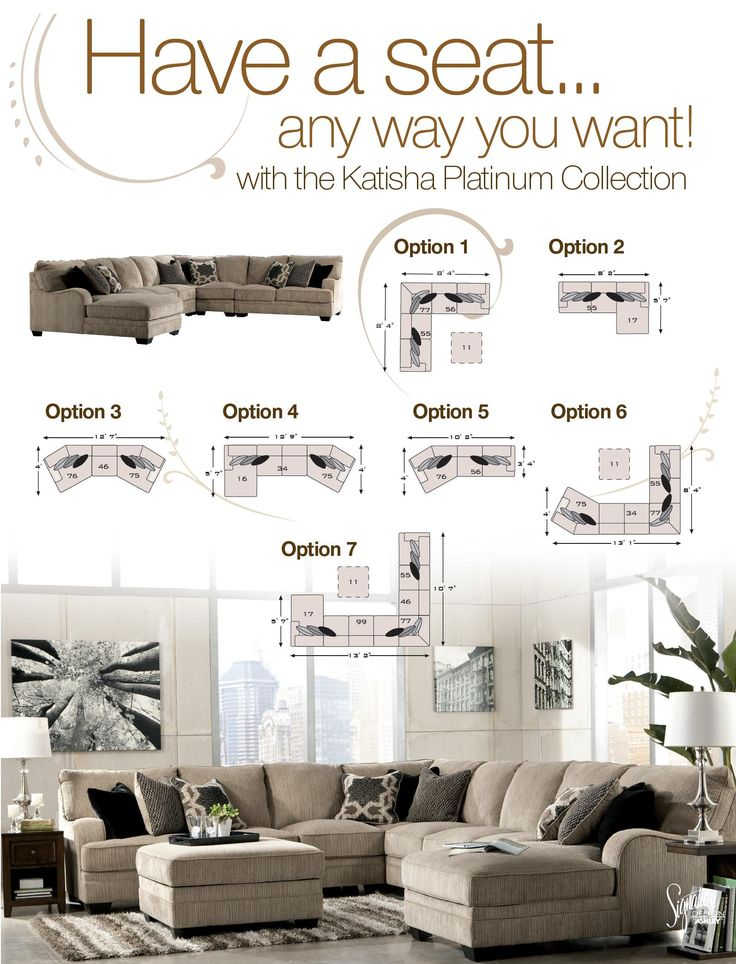 Signature Design by Ashley Katisha - Platinum 5-Piece Sectional Sofa with Left Chaise - Miskelly Furniture - Sofa Sectional Jackson, Mississippi