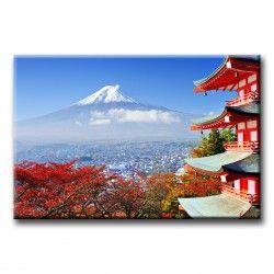 Lienzo Vistas del Monte Fuji