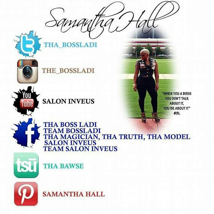 """IF YOU WOULD LIKE TO BOOK SAMANTHA """" THA BOSSLADI"""" FOR: *EDUCATIONAL CLASSES ( PRODUCTS, TOOLS & TECHNIQUES ) (HANDS ON/ONE ON ONE/HIGH SCHOOLS/COSMO SCHOOLS & SALONS) *EVENT HOSTINGS *PRIVATE EVENTS *DIVORCE PARTIES *BIRTHDAY PARTIES *PERSONAL APPEARANCES *MUSIC VIDEOS AND MUCH MORE..   CONTACT 1MINDINC2013@GMAIL.COM 254-319-3994  SAMANTHA """" THA BOSSLADI """" & TEAM BOSSLADI WOULD LIKE TO LET YOU KNOW WHAT WE HAVE GOING ON SO THAT YOU CAN SCHEDULE YOUR HAIR APPOINTMENTS AND EVENT  BOOKINGS…"""