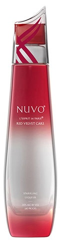 Nuvo Red Velvet: The world's first sparkling liqueur has hit a delicious note with Nuvo Red Velvet Cake.  The distiller invites you to taste the soft sponge cake and the sweetness from the luxuriously creamy cheesecake frosting, finishing with a hint of chocolate.: Cake Sparkly, Cheesecake Frostings, Nuvo Red, Sponge Cake, Creamy Cheesecake, Red Velvet Cakes