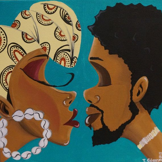 Black Art/ African American Art Infatuation 10x10 by ArtbyTiffani