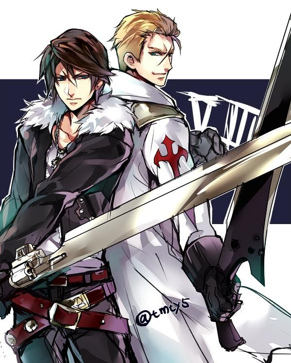 Squall and Seifer Final Fantasy VIII
