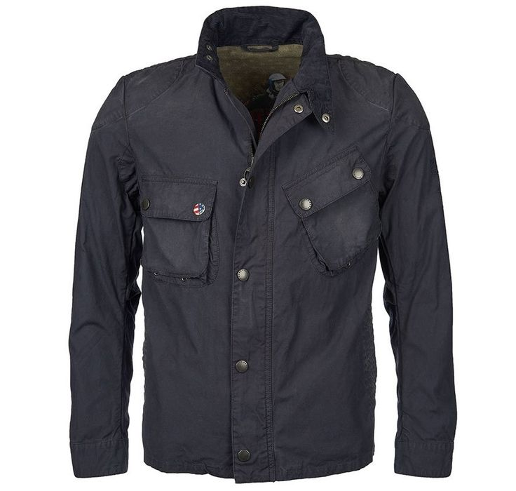 The Men's Barbour Steve McQueen Washed 9665 Jacket is a casual jacket that channels the timeless style of the King of Cool himself, Steve McQueen. A modern, rugged interpretation of the iconic Barbour International biker jacket, it's made from a cotton outer with a garment-dyed finish giving it a slightly faded, worn look. Features include two chest pockets, back waist tab and subtle stitched details on the shoulders and elbows. The slanted map pocket on the International range has be...