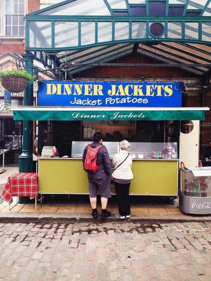 Great jacket potatoes @ Dinner Jackets, here @ Jubilee market <3