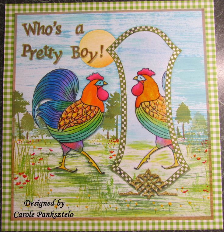 From the Cockerel & Hen Claritystamp collection - One of my Design Team pieces showcased on HOCHANDA 25th Feb 2016 by Barbara Gray
