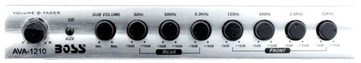 Boss AVA1210 Car Equalizer Preamp Silver 7Band Subwoofer Input