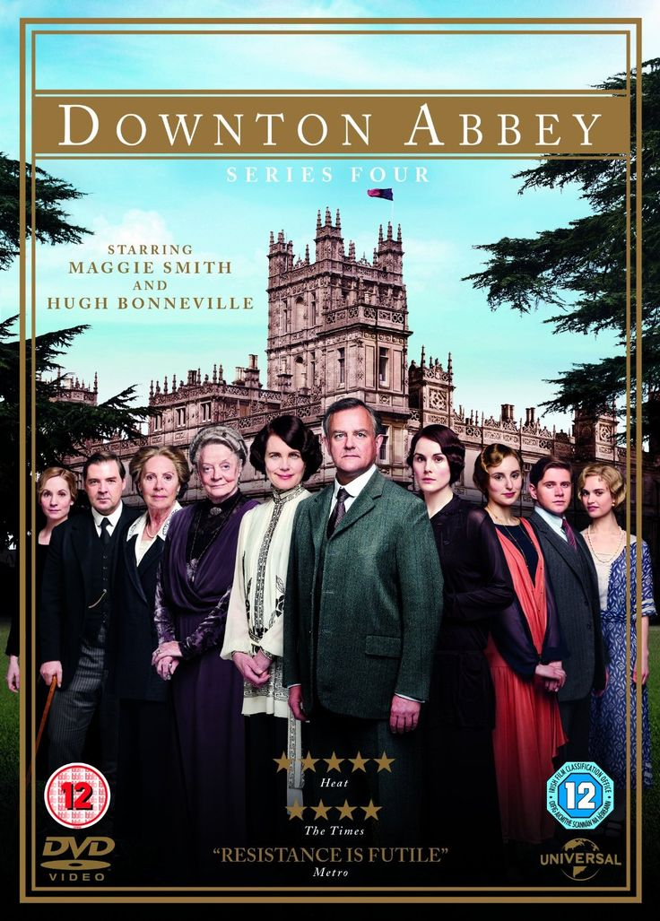 """Downton Abbey: Series 4 (2013) created by Julian Fellowes, starring Maggie Smith, Michelle Dockery, Hugh Bonneville, Brendan Coyle and Jim Carter et al. """"Downton Abbey returns to DVD for a fourth series and finds Lady Mary mourning her husband Matthew, who had just visited his wife and new baby George in hospital and was returning to see his family when his car overturned killing the heir to Downton. Will Mary find happiness again in the new series of Downton Abbey?"""""""