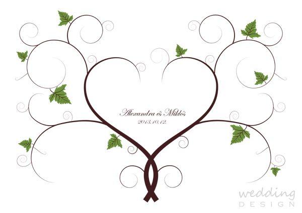 Wedding Guest poster - Esküvői ujjlenyomatos plakát Graphic/Grafika: Wedding Design
