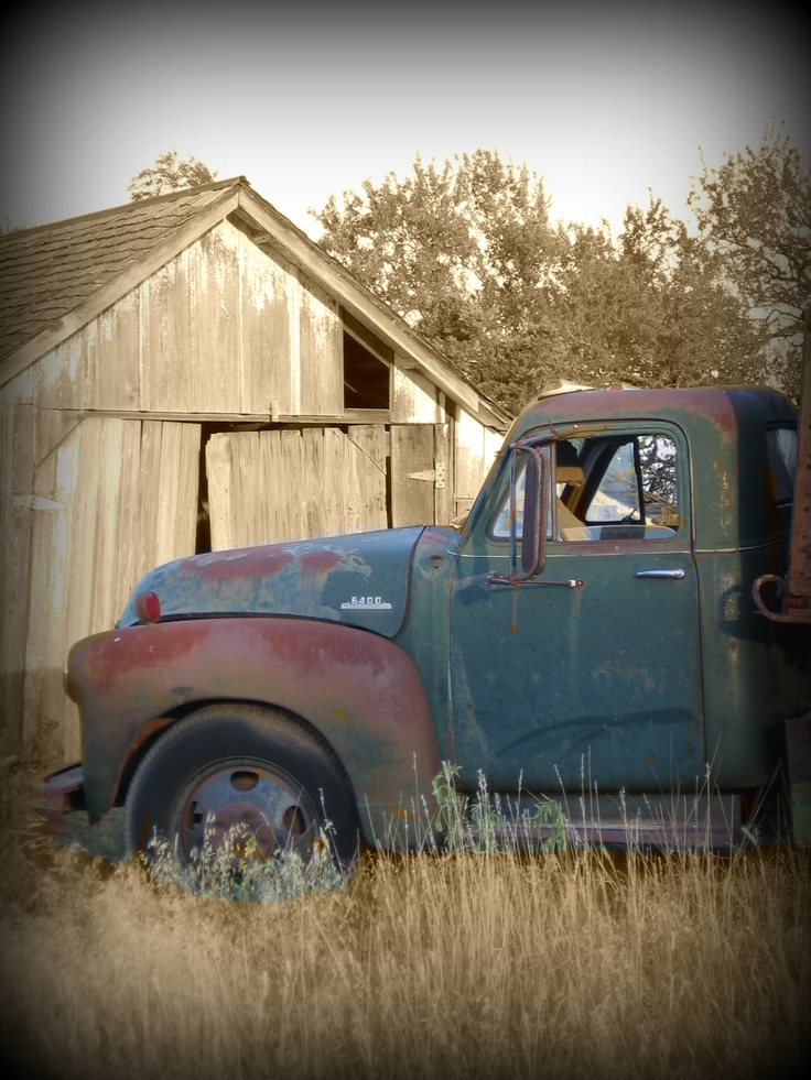 Big Ford Trucks >> Old Truck Barn. Cousins, siblings, we had to share the cab ...