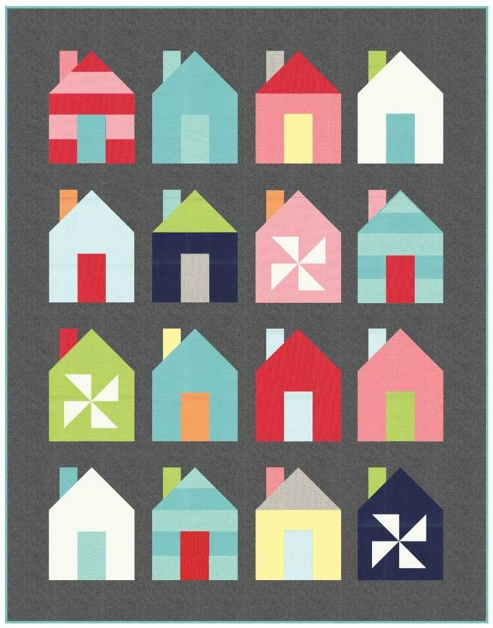 I love this house quilt!