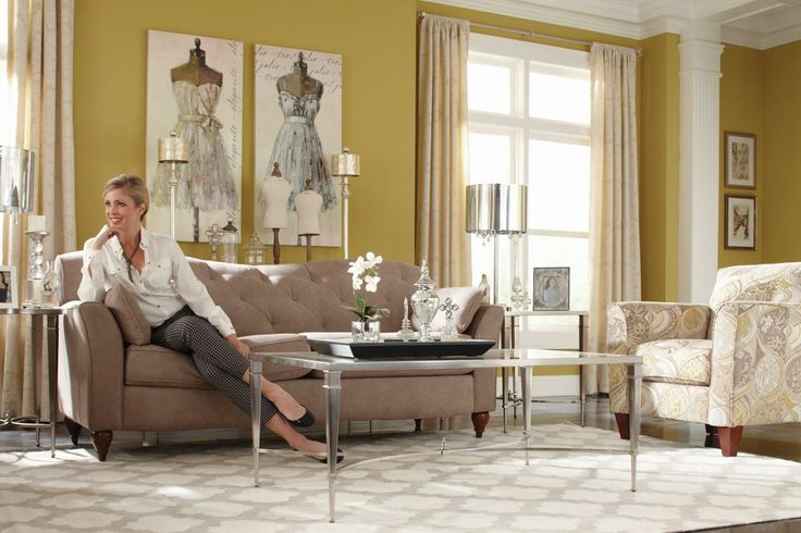 Fun feminine sophisticated style feminine design for Fun living room furniture