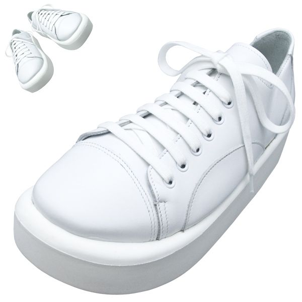 TOKYO BOPPER No.874 /  White smooth leather shoes featured on Jzool.com