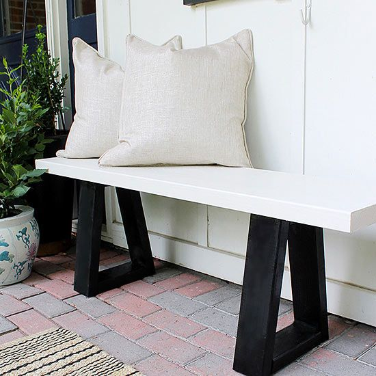 Looking for simple, modern outdoor seating? For less than the price of one West Elm bench, you could fill an entire backyard with near-identical slab bench knockoffs -- thanks to this easy tutorial. The clean lines and minimalist black-and-white color combination of the seating complements any and all outside decor.