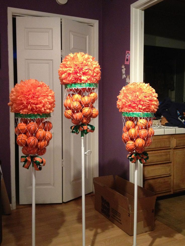 basketball flower arrangements basketball bar mitzvah