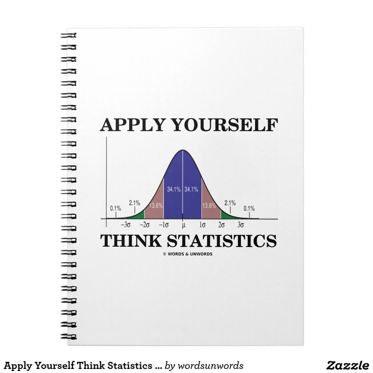 "Apply Yourself Think Statistics (Bell Curve Humor) #applyyourself #think #statistics #stats #statistician #bellcurve #geek #humor #normaldistributioncurve #advice #scientist #psyche #wordsandunwords Here's a notebook that any statistician will enjoy featuring the bell curve distribution along with the following sound stats advice: ""Apply Yourself Think Statistics""."