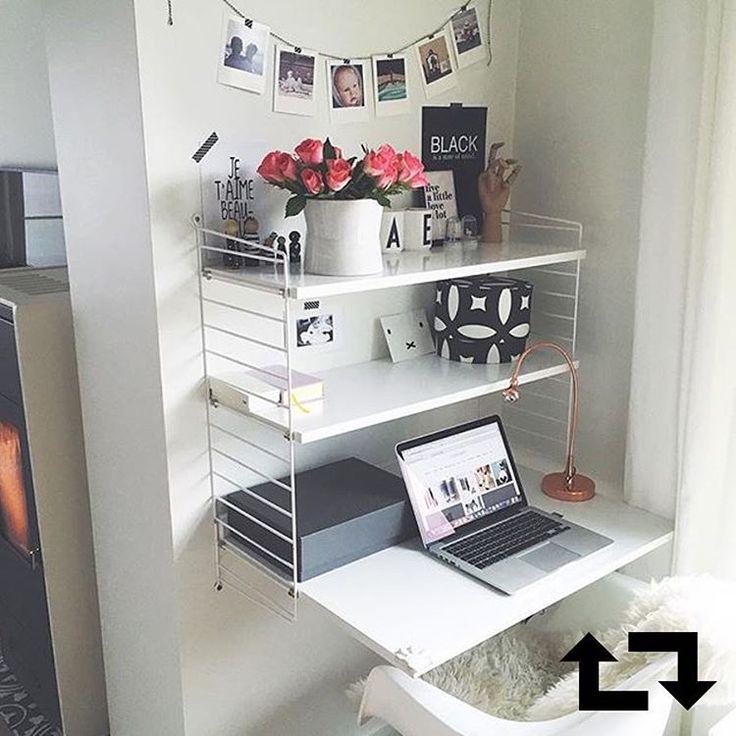 """""""Het zijn de laatste loodjes voor de studenten! Een bureau als deze kan daarbij motiverend werken. Door @studioaimeedotcom #IKEABEregram #blok #examen…"""""""