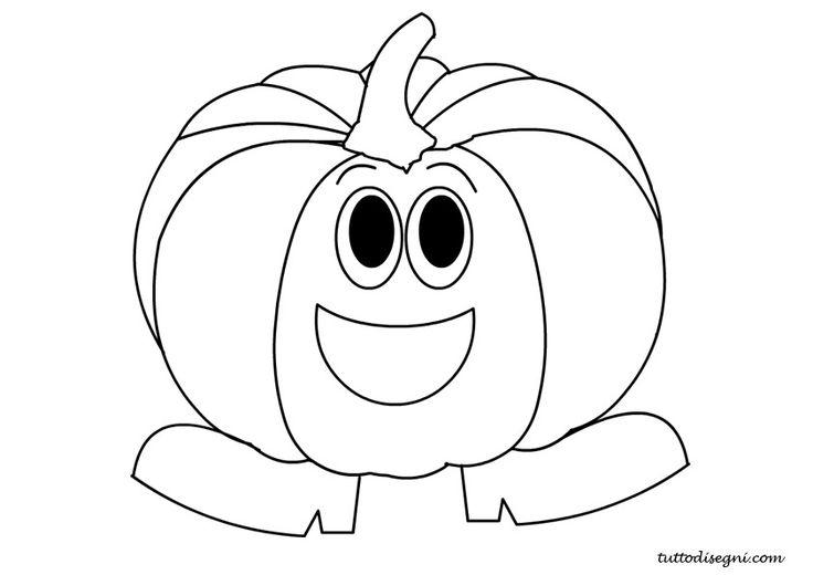 Disegni autunno da colorare - Zucca