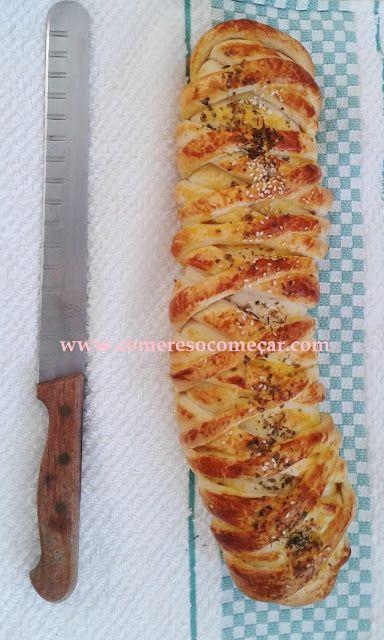 PÃO DE MUSSARELA E AZEITONAS - Receitas Culinárias