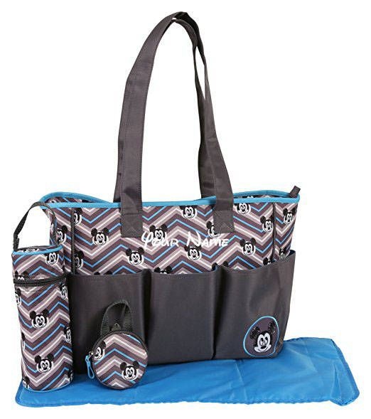 24 best diaper bags images on pinterest agradecido por artesanas addition to our knextion etsy shop personalized disney mickey mouse blue and grey chevron print diaper bag set perfect for baby shower gifts for baby negle