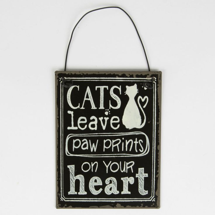 Cats Leave Paw Prints on Your Heart Mini Plaque