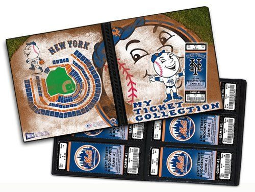 New York Mets Ticket Albums by That's My Ticket. $4.99. 4 color portfolio with 32 pages holding 96 tickets - great for season ticket holders, or collectors. Packaged in attractive poly bag with header that is peggable.