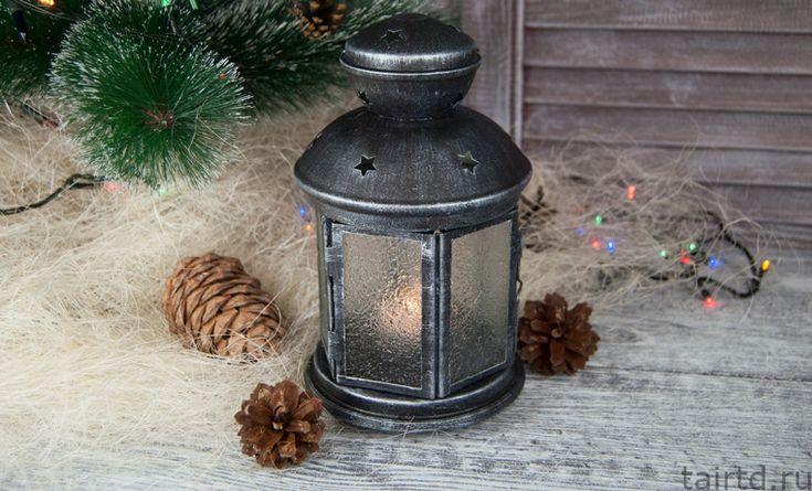 Простой новогодний фонарик. Мастер-класс по декору фонаря из Икеи