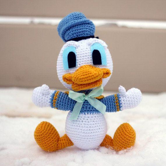 Crochet Donald Duck Amigurumi Handmade Crochet Amigurumi Toy