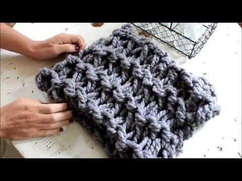 How to Arm Knit a Garter Stitch Scarf in 20 minutes - With Simply Maggie - YouTube