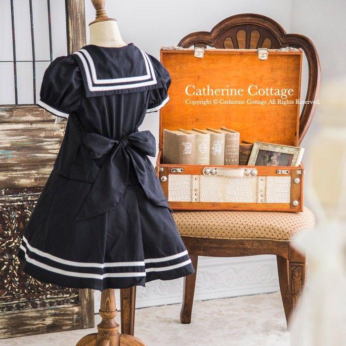 子どもワンピ 子ども服 女の子 ゴールドボタンセーラーワンピース フォーマル 100-160cm :CC0150:キャサリンコテージ - 通販 - Yahoo!ショッピング