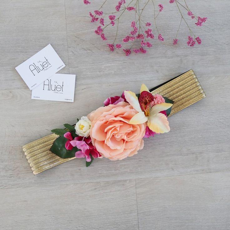 cinturon de flores hecho a mano Aluet