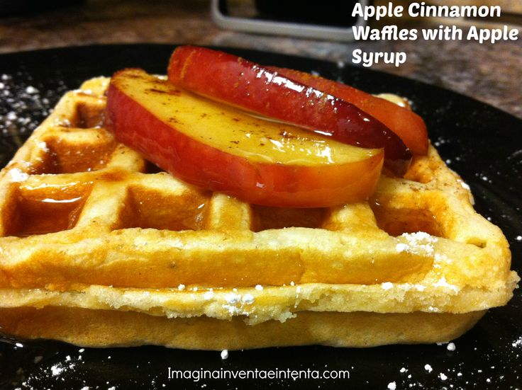 Apple Cinnamon Waffles with Apple Syrup