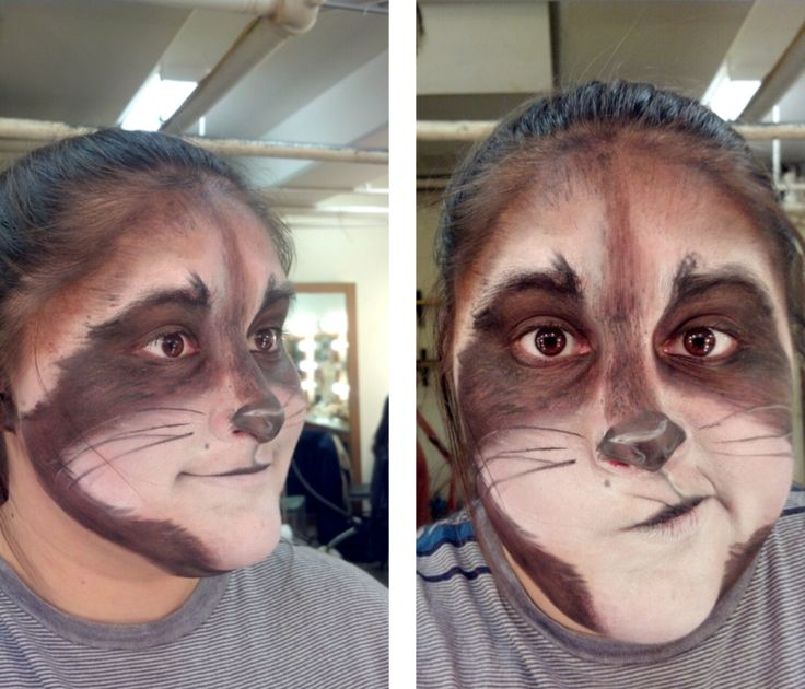 Stage Makeup: Raccoon http://stjost.deviantart.com/art/Stage-Makeup-Practical-6-Animal-341348321