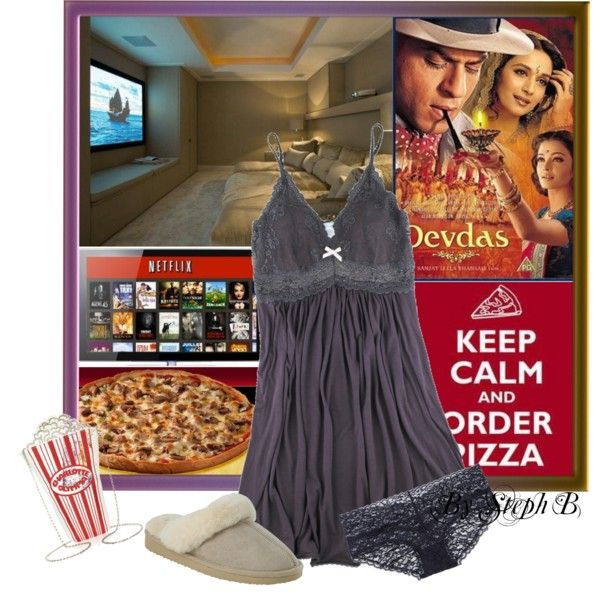 """Friday night fever - home edition"" by stephaniebeckette on Polyvore"