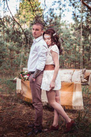 Свадьба в стиле бохо Коли и Даши