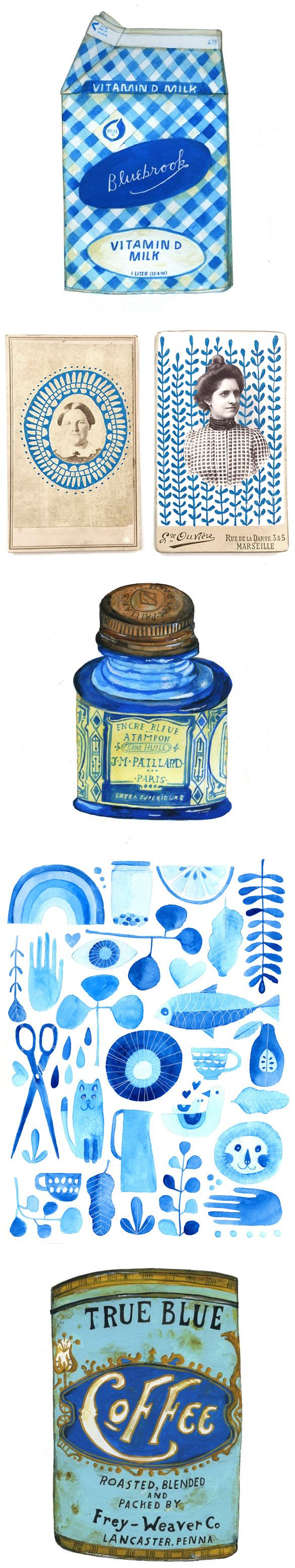 """""""experiments in blue"""" a weekly challenge for one year by lisa congdon"""