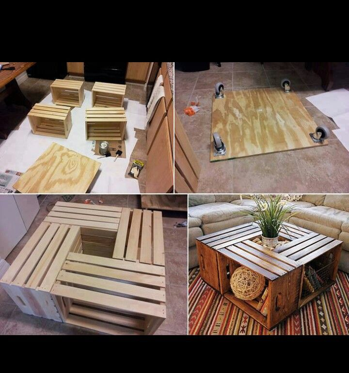 Repurposing! These kinds of crates can be bought at Michaels or Home Depot. I think I want to make one for my front porch table.