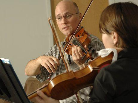 Violin lesson spank