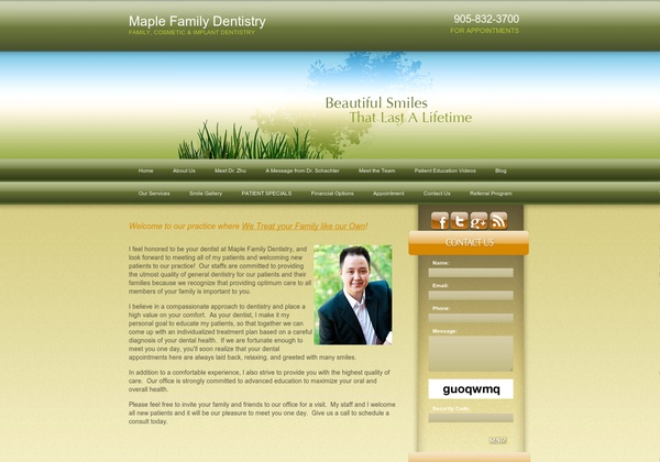 Maple Family Dentistry,  2535 Major Mackenzie Drive Unit 211  Maple, ON L6A 1C6, Canada  (905) 832-3700