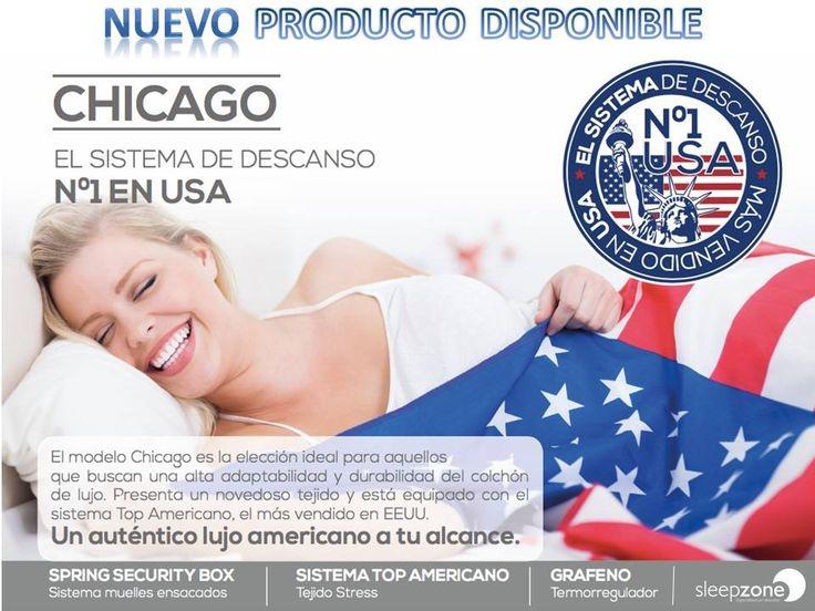 Porque #dormir mejor no tiene por qué no ser más caro. Descubre el nuevo colchón #CHICAGO de Moraplex, ¡¡¡Nº1 en Estados Unidos!!!  Este modelo es la elección ideal para aquellos que buscáis una alta adaptabilidad y durabilidad. Está compuesto por un novedoso tejido y viene equipado con el sistema Top Americano, el más vendido en EEUU.  Ya disponible en tu tienda Sleep Zone más cercana.