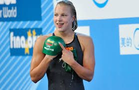 Ruta Meilutyte is a Lithuanian swimmer born in Kaunas, Lithuania. At the age of 15, she already has broken 9 Lithuanian records. Also on this age, she won the gold on the Olympics in 2012, London, which makes here the youngest Lithuanian athlete to win gold on the Olympics.